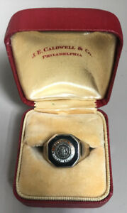 Vintage 10K Gold Pennsylvania Military College PMC Ring J.E. CALDWELL size 8 $300.00