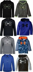 Under Armour Little Boys Kids Big Logo Pullover Hoodie Sweater Size 4,5,6,7 $19.99