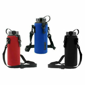1L Water Bottle Carrier Bag Insulated Holder Cover Pouch Adjustable Strap Travel $4.04