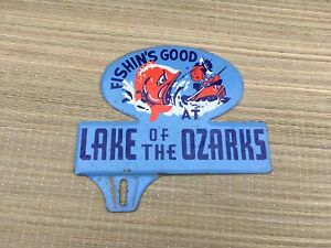 Old Fishin's Good at Lake of the Ozarks Advertising Car License Plate Topper
