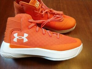 Under Armour Steph Curry Basketball Shoes 3Zero Brand New Orange Men's Size 8