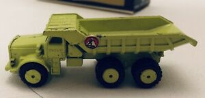 Gibbs Metal Minitures, Euclid Rear Dump Truck With Original Box.