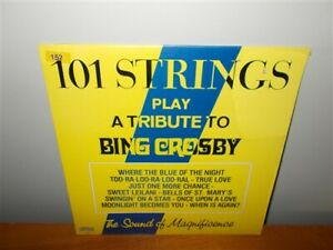 101 Strings Play a Tribute to Bing Crosby . Alshire . NM LP