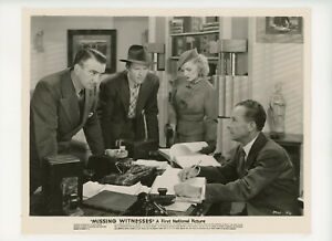 MISSING WITNESSES Original Movie Still 8x10 Sheila Bromley Dick Purce 1937 21284
