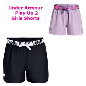 Girls Under Armour Play Up Shorts Running Training Girls Shorts New