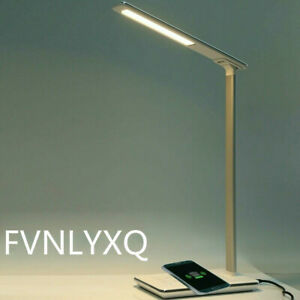 FVNLYXQ LED Lamp Table Lamp with Qi Wireless Charger USB Folding Eye Protection