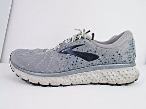MEN'S BROOKS GLYCERIN 17 size 11 (2E) WIDE! !WORN LESS THAN 10 MILES! NO INSOLES