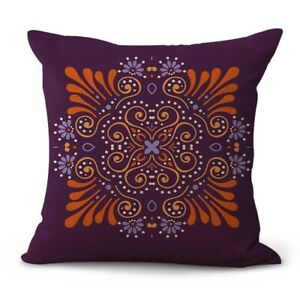flower mandala yoga meditation cushion cover throw pillow case