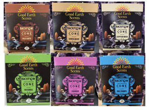 Restock! Good Earth Backflow Incense Cones 10 Cones per Box Made in India