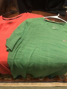 Nike Mens Running Shirts Lot Of 2 Size L NIKE RUNNING Gently Used