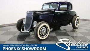1934 Ford 5-Window All Steel teel Crate V8 Coupe Manual Classic Vintage Collector Blue White ZZ4 TKO600 Curr
