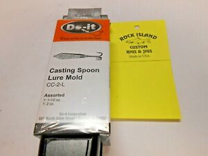 3178 Do-It Casting Spoon Lure Mold 1-12 to 2 oz  I refund excess shipping fees!