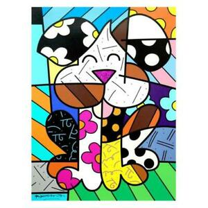 Britto quot;Andyquot; Hand Signed Limited Edition Canvas Authenticated $1020.00