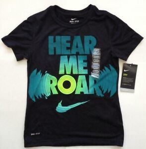 Nike Girls Dry Fit T Shirt Hear Me Roar 862602 010 $14.95