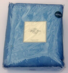 Sferra Chalet King Blanket In Blue 100% Brushed Cotton
