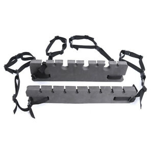 Set Horizontal Universal Portable Car Mounted Adjustable Fishing Rod Rack