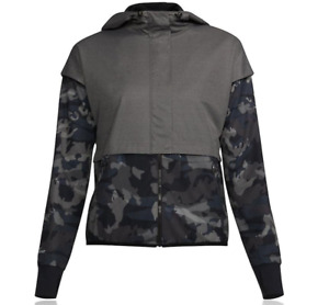 Under Armour Womens Unstoppable Gore Windstopper Jacket Top Black Grey Sports XS $39.99