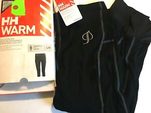 $80 Helly Hansen HH Warm 3 4 Pant Size L Womens Base Layer NWT Black $38.99