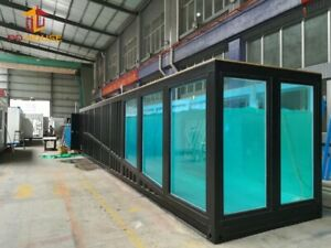 Swimming  Aquarium Pool 20ft. Length Safe Room Designs Container