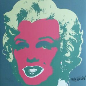 ANDY WARHOL MARILYN MONROE 1986 HAND NUMBERED 16682400 LITHOGRAPH signed