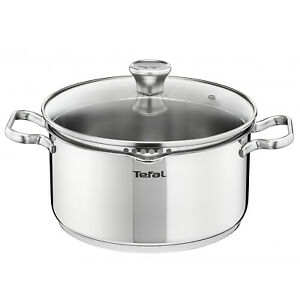 Tefal Duetto Stainless Steel Induction Stewpan 5.0 qt with Lid Dishwasher Safe