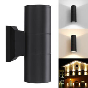 Outdoor Modern Cylinder Up Down Aluminum LED Lamp Waterproof Wall Light Sconce