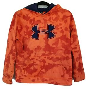 Under Armour Boys Storm Fleece Hoodie Sweatshirt Camo Orange YOUTH Large $16.99