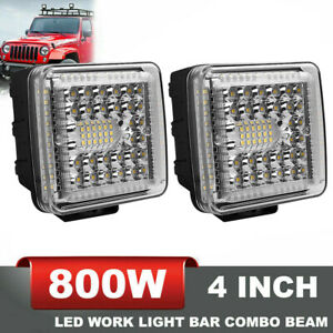 4x 30W LED Work Lights Pods Spot Fog Offroad Lamp For ATV JEEP UTE SUV 4'' Cube