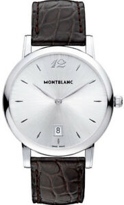 108770 Montblanc Star Classique Date  Men's Watch  Dial White Silve