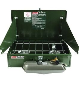Coleman Two Burner Dual Fuel Camping Stove 424 700 Never Used  NEW IN BOX