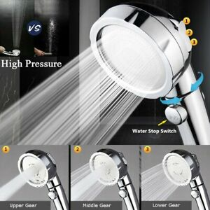 3 In 1 High Pressure Showerhead Handheld Shower Head Hand Held with ON Off Pause