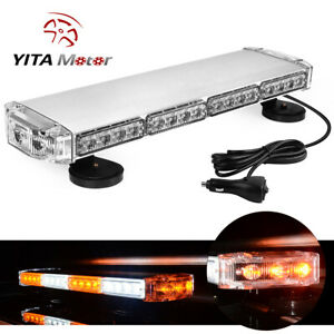 YITAMOTOR 21 Amber White Rooftop LED Emergency Warning Strobe Light Car Truck