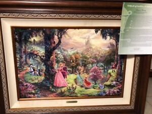 Thomas Kinkade. Rare and Sold Out. Sleeping Beauty Disney Dream Collection