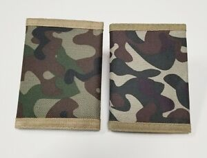 2 Wallets Tri fold Camouflage Men#x27;s Wallet ARMY Camo Wallet NEW
