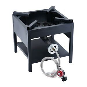 200000 BTU Outdoor Camping Cast Iron High Pressure Propane Burner Gas Stove