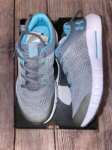 Under Armour 12.5K 13K Gray Blue Pursuit Sneakers Tennis Shoes NEW