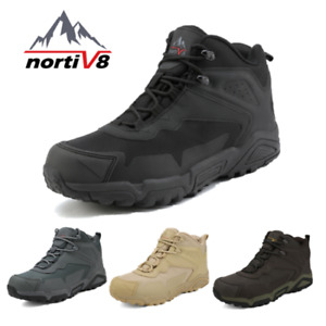 NORTIV 8 Men#x27;s Ankle Waterproof Hiking Boots Lightweight Backpacking Work Shoes