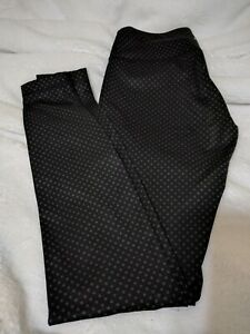 Lululemon Wunder Under Black Gray Biggie Dot Full on Luxtreme Leggings Sz 4 $65.00