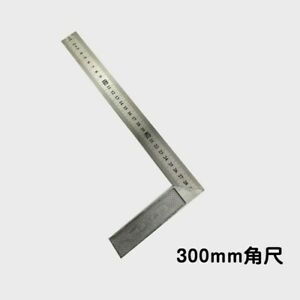 30cm Metal Steel Square Ruler 90 Degree Angle Auto Car Measuring Inspection Tool $3.99