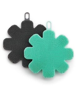 Art amp; Cook Silicone Sponges Set of 2 Green Black