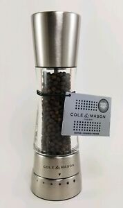 Cole & Mason H59401G Derwent Pepper Mill, Stainless Steel NEW WITHOUT BOX