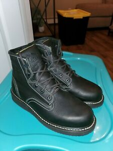 Men#x27;s Georgia Boots GB00360 Wedge Lace Black Leather Work amp; Safety Boots Size 9