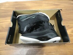 UNDER ARMOUR Curry 4 Black White Sz 12K Kids Basketball Shoes BRAND NEW $74.99