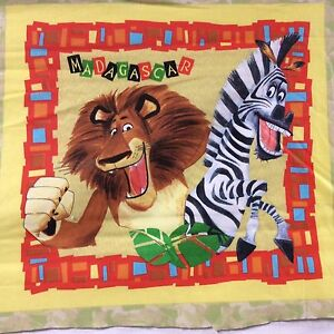 Madagascar Quilting Square or Child Size Pillow Case Sewing Material D3 $7.99