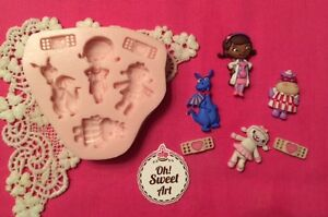 Doc McStuffins  Silicone Mold Food Safe decoration Cake toppers Cupcake FDA