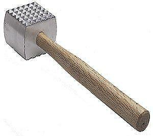 Extra Large Heavy Duty Meat Tenderizer Mallet Double sided Commercial Grade Ha