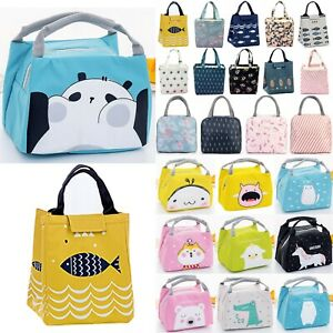 Lunch Bags Women Kids Portable Thermal Insulated Picnic Tote Cooler Food Box Bag