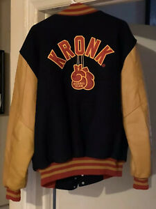 Brand New Vintage Official Leather Kronk Boxing XXL RARE Bomber Jacket Look