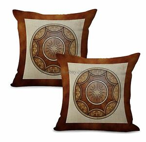 Set of 2 medallion mandala yoga meditation cushion cover cushion