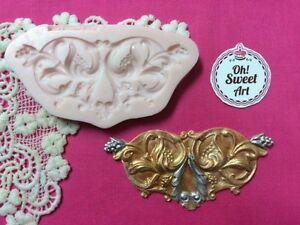 Colonial scroll Lace silicone mold fondant cake decorating soap wax food FDA